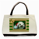 Green and Gold Christmas Tote - Basic Tote Bag