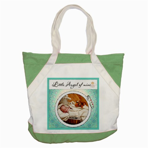Little Angel Of Mine Accent Tote Bag By Lil    Accent Tote Bag   Y3zb680269im   Www Artscow Com Front