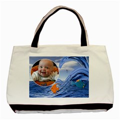 Baby Beach 2 Sided Classic Tote By Lil    Basic Tote Bag (two Sides)   H75a3hcwz4i6   Www Artscow Com Front