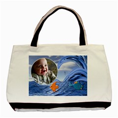Baby Beach 2 Sided Classic Tote By Lil    Basic Tote Bag (two Sides)   H75a3hcwz4i6   Www Artscow Com Back