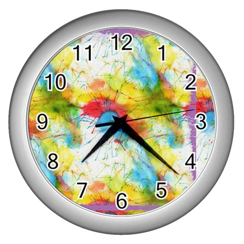 Clock By Kate   Wall Clock (silver)   Ayutq1upn4xm   Www Artscow Com Front