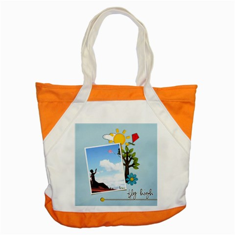 Accent Tote Bag  Fly High In Summer By Jennyl   Accent Tote Bag   0xbjoy0thz0q   Www Artscow Com Front