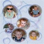 Bubbles 8x8 Scrapbook Pages - ScrapBook Page 8  x 8