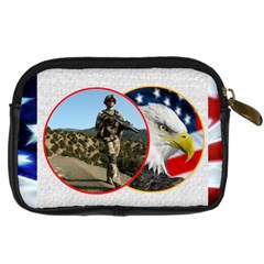 My Hero Us Military Camera Case By Catvinnat   Digital Camera Leather Case   Nmwfvfnnooyr   Www Artscow Com Back