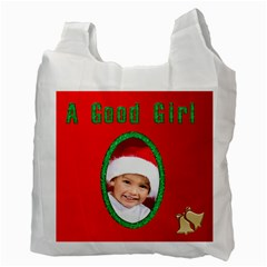 A Good Girl Santa Bag By Deborah   Recycle Bag (two Side)   Egu1a1qvuycv   Www Artscow Com Back