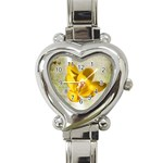 flower watch - Heart Italian Charm Watch