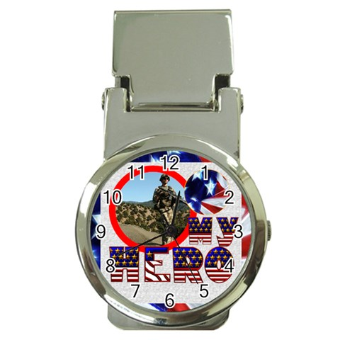 My Hero Us Military Moneyclip Watch By Catvinnat   Money Clip Watch   T741o9od8563   Www Artscow Com Front
