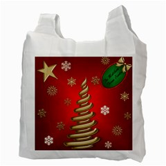 Secret Santa Or Christmas Gift Bag By Deborah   Recycle Bag (two Side)   Zlbx4ut5evfb   Www Artscow Com Back