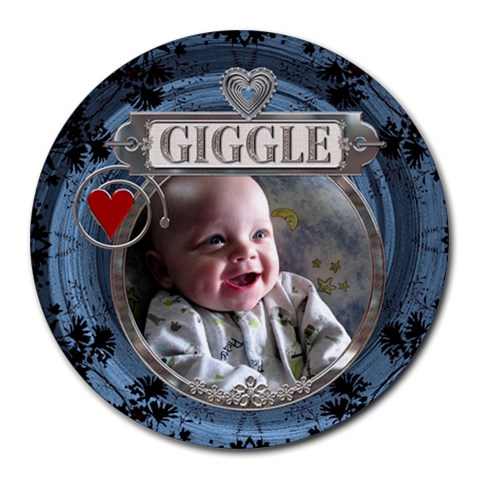 Giggle Round Mousepad By Lil    Round Mousepad   03rgvmvc8pq4   Www Artscow Com Front