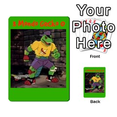 Tmnt Turtle Deck By Daniel Chick   Multi Purpose Cards (rectangle)   180347   Www Artscow Com Front 2