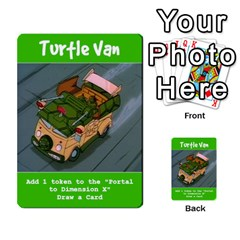 Tmnt Turtle Deck By Daniel Chick   Multi Purpose Cards (rectangle)   180347   Www Artscow Com Front 11