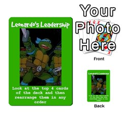 Tmnt Turtle Deck By Daniel Chick   Multi Purpose Cards (rectangle)   180347   Www Artscow Com Front 15