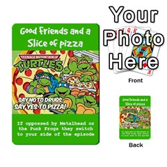 Tmnt Turtle Deck By Daniel Chick   Multi Purpose Cards (rectangle)   180347   Www Artscow Com Front 24