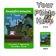 Tmnt Turtle Deck By Daniel Chick   Multi Purpose Cards (rectangle)   180347   Www Artscow Com Front 25