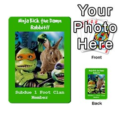 Tmnt Turtle Deck By Daniel Chick   Multi Purpose Cards (rectangle)   180347   Www Artscow Com Front 27