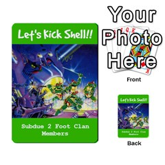 Tmnt Turtle Deck By Daniel Chick   Multi Purpose Cards (rectangle)   180347   Www Artscow Com Front 29