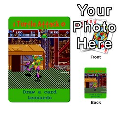 Tmnt Turtle Deck By Daniel Chick   Multi Purpose Cards (rectangle)   180347   Www Artscow Com Front 39