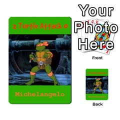 Tmnt Turtle Deck By Daniel Chick   Multi Purpose Cards (rectangle)   180347   Www Artscow Com Front 43