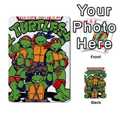 Tmnt Turtle Deck By Daniel Chick   Multi Purpose Cards (rectangle)   180347   Www Artscow Com Back 50