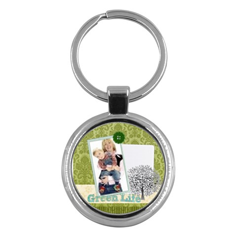 Green Life By Joely   Key Chain (round)   7wjpsvhmaya6   Www Artscow Com Front
