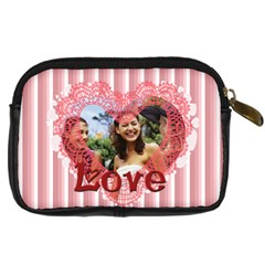Love By Joely   Digital Camera Leather Case   F6r9pyalm7an   Www Artscow Com Back