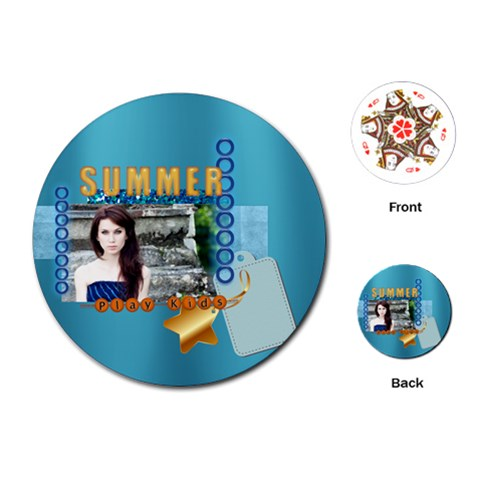 Summer By Joely   Playing Cards (round)   On8esa6w3da9   Www Artscow Com Front