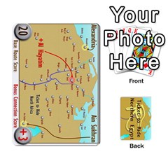 Ace Ticket To Ride: Northern Egypt By Matthew Stevenson   Playing Cards 54 Designs   Gitpx2t0lxbl   Www Artscow Com Front - ClubA