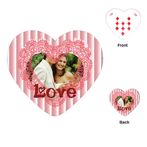 Love By Joely   Playing Cards (heart)   3jovkbexo0h7   Www Artscow Com Front