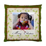 Cushion Case (Two Sides)- Merry Christmas 3 - Standard Cushion Case (Two Sides)