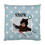 Cushion Case (Two Sides): Snow Fun - Standard Cushion Case (Two Sides)