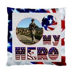 My Hero Us Military Double Sided Cushion By Catvinnat   Standard Cushion Case (two Sides)   Ayxw0mnrg9v2   Www Artscow Com Front