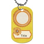 Tutti-Frutti Yellow Tag - Dog Tag (One Side)