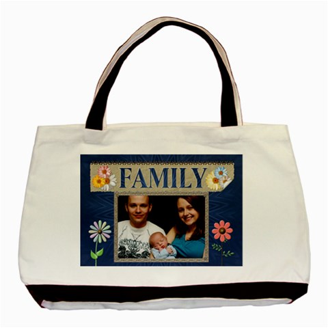 Family Flowers Classic Tote Bag By Lil    Basic Tote Bag   Vfr499v179po   Www Artscow Com Front