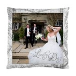 Lovely Day Wedding Cushion Double Sided - Standard Cushion Case (Two Sides)