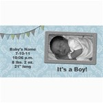 Summer Sophisticate Baby Boy Birth Announcements - 4  x 8  Photo Cards