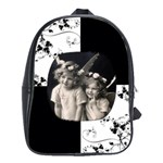 angelica Monochrome  large school bag back pack - School Bag (Large)