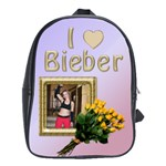 I Love Bieber (large) school bag - School Bag (Large)