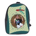 Airplane Large School Bag - School Bag (Large)