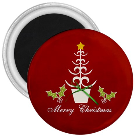 3  Magnet  Merry Christmas By Jennyl   3  Magnet   N0q3v3b9wl91   Www Artscow Com Front