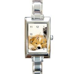 Dog2 Rectangular Italian Charm Watch