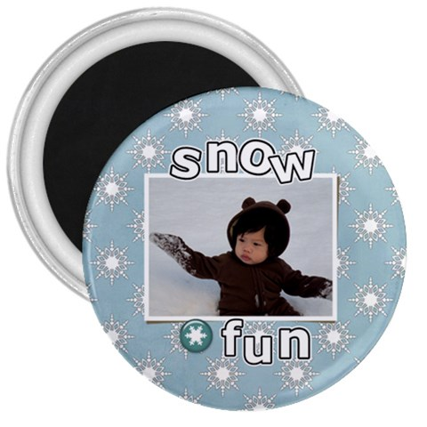 3  Magnet   Snow Fun By Jennyl   3  Magnet   Lxxacbjjm6a1   Www Artscow Com Front
