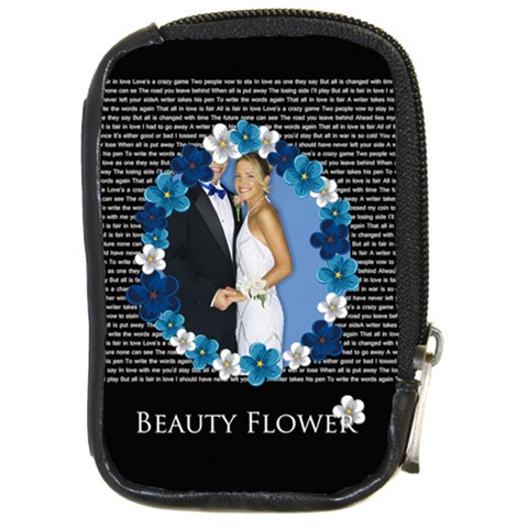 Beauty Flower By Joely   Compact Camera Leather Case   Kn3c4030k4uq   Www Artscow Com Front