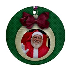 Christmas Ornament Round Ornament (2 Sides) By Mikki   Round Ornament (two Sides)   Uid6xo018eq7   Www Artscow Com Back