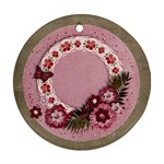 Sweet pink flowers ornament- 2 sides - Round Ornament (Two Sides)