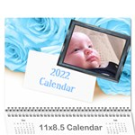 Roses for you (any Year) 2018 Calendar - Wall Calendar 11  x 8.5  (12-Months)