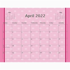 Pretty Pastels Calendar 2016 By Kim Blair   Wall Calendar 11  X 8 5  (12 Months)   Fc5zquolkbps   Www Artscow Com Apr 2016