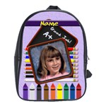 Back to School Pencil Large School Bag - School Bag (Large)