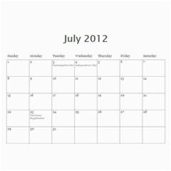 2012 Stx Calendar By John Connor   Wall Calendar 11  X 8 5  (12 Months)   Uoewnylh6mmi   Www Artscow Com Jul 2012