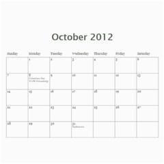 2012 Stx Calendar By John Connor   Wall Calendar 11  X 8 5  (12 Months)   Uoewnylh6mmi   Www Artscow Com Oct 2012