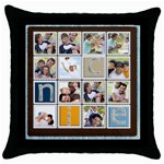 Family - Throw Pillow Case (Black)